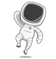Astronaut rejoices vector