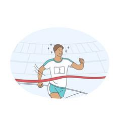 athletics running marathon competition concept vector image