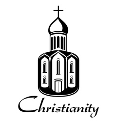 Black and white Christianity icon vector
