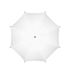 Blank white umbrella top view vector