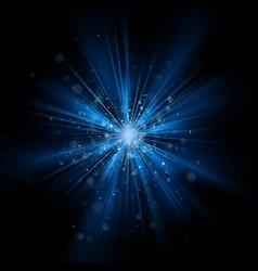 blue light burst effect eps 10 vector image