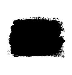 Brush stroke isolated on white background black vector