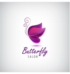 Butterfly logo Spa salon vector
