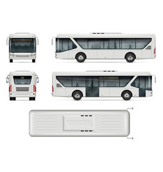 city bus mockup vector image