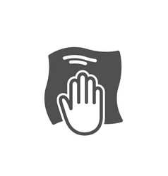 Cleaning cloth icon wipe with a rag vector