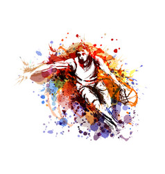 color of a basketball player vector image
