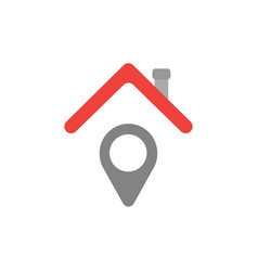 concept of pointer under house roof icon on white vector image
