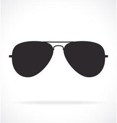Cool aviator sunglasses silhouette vector