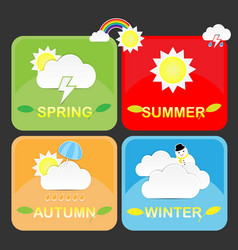 Cute season weather icon vector