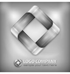 Design square on grey vector image