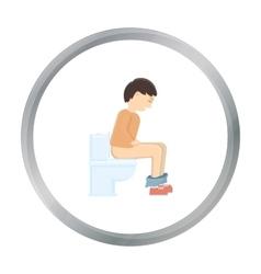 Diarrhea icon cartoon Single sick icon from the vector