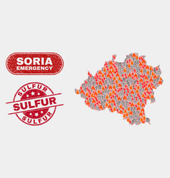 Disaster and emergency collage soria province vector