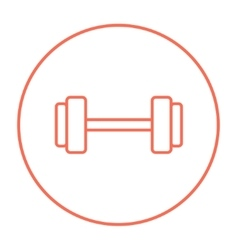 Dumbbell line icon vector