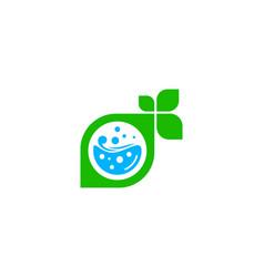 Eco laundry logo icon design vector