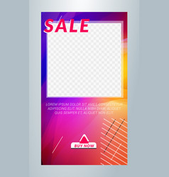 editable template for social media stories vector image