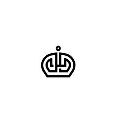 elegant crown premium logo monarch symbol vector image