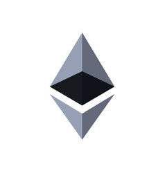 ethereum crypto currency coin vector image