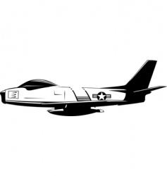 f86 sabre vector image vector image