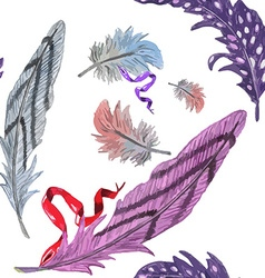 Feather pattern3 vector image