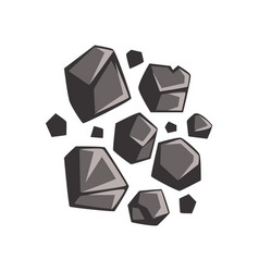 flat cartoon lumps of coal vector image