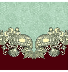 Floral ornate card announcement vector