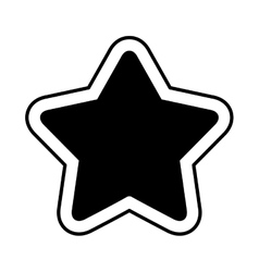 Game star isolated icon vector