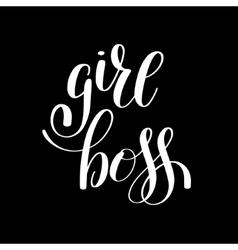 Girl boss handwritten positive inspirational quote vector