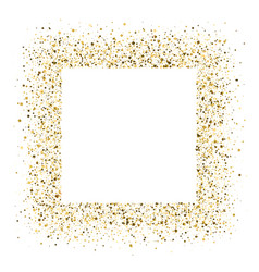 glittering frame from shining golden dust isolated vector image