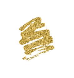 gold glitter brush stroke vector image