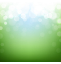 Green nature background with bokeh vector