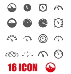 grey meter icon set vector image