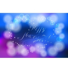 Happy New Year card with flares and sparkles vector image