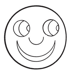happy smiley face vintage engraving vector image