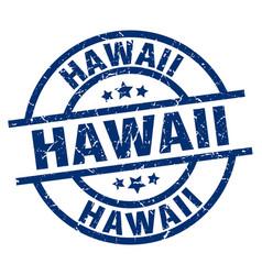 Hawaii blue round grunge stamp vector