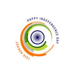 indian holiday happy independence day celebration vector image