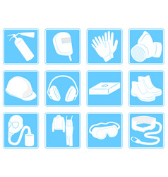 Infographics individual safety equipment vector