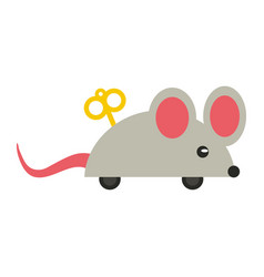 Joke rope mouse cartoon vector