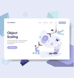 Landing page template of 3d scale modification vector