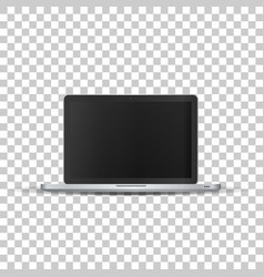 Laptop without screen on transparent background vector