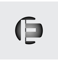 Letter E Made of wide white stripes vector