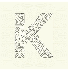 Letter K Golden Monogram Design element vector image