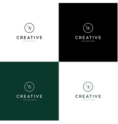 Letter wv creative business logo design vector