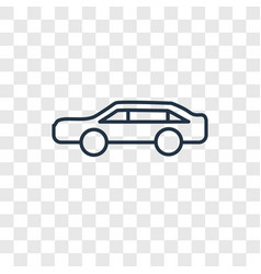 limousine concept linear icon isolated on vector image