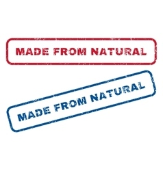 Made From Natural Rubber Stamps vector image