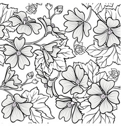 malva seamless pattern vector image