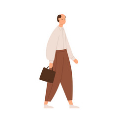 Mature man going to work wearing pants and shirt vector