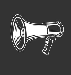 megaphone speaker monochrome style vector image