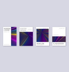 minimal brochure design template set rainbow abst vector image
