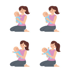 Mother holding angry baset vector