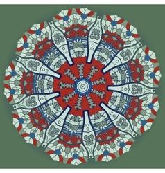 Oriental mandala yoga motif vector